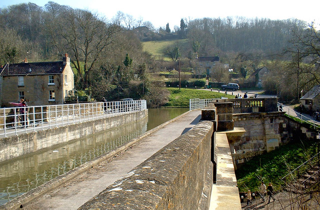Kennet & Avon Canal on Avoncliff Aqueduct