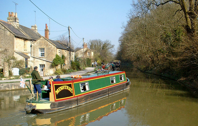 Narrowboat on the Kennet & Avon Canal
