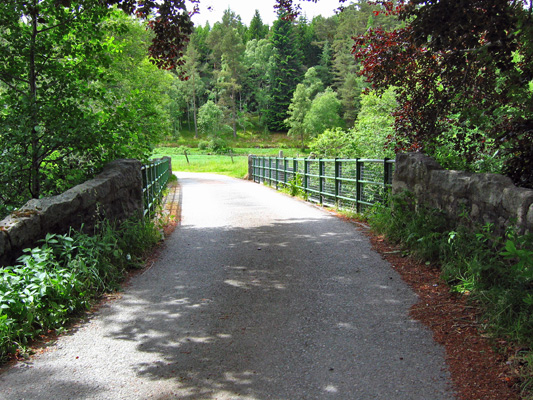 Bridge across the river Muick at Mill of Sterin
