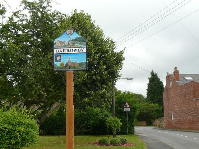 A new village sign for Barrowby
