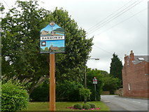 SK8836 : A new village sign for Barrowby by David Harris