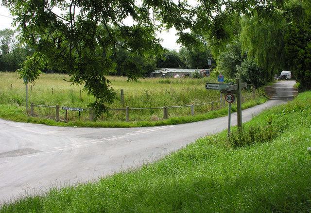 Road junction at Skelton