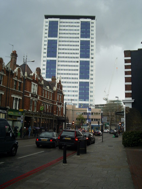 Sudbury House tower block above the Southside shopping centre Wandsworth