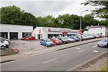 SU4828 : Citroën garage in Bar End road, Winchester by Peter Facey