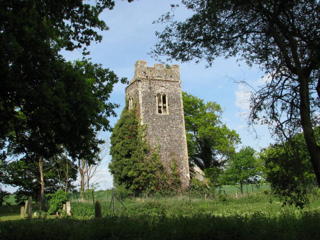 The ruined church of All Saints
