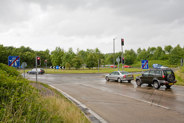 Roundabout off M3 Junction 10, Winchester