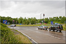 SU4828 : Roundabout off M3 Junction 10, Winchester by Peter Facey