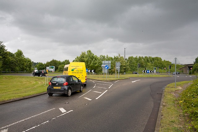 Bull Drove approaches roundabout off M3 Junction 10, Winchester