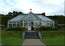 SS6140 : Glasshouse in the walled garden at Arlington Court by Simon Huguet