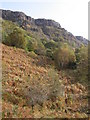 NM7042 : Aoineadh Beag cliffs from Inninmore path by Peter Bond