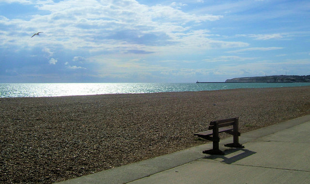 Deserted beach, Seaford Bay