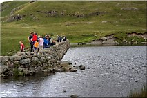 NY2807 : Rest and Viewing Gallery at Stickle Tarn by Mick Garratt