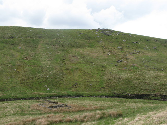 Sheep pen on the west bank of the River Irthing