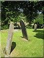 SK2176 : Gravestones in Eyam Churchyard by Alison Rawson