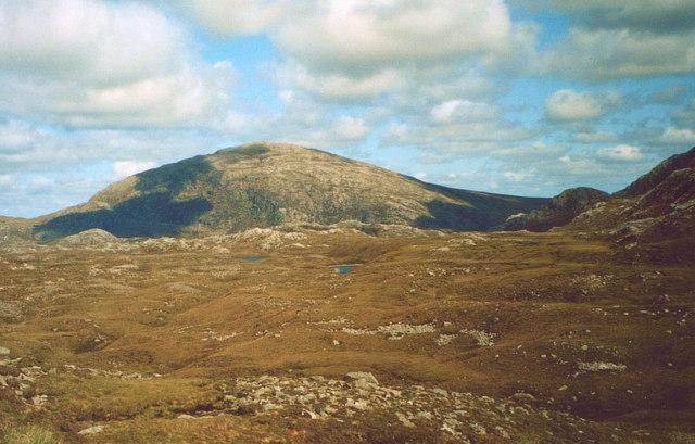 Suaineabhal and moorland around Abhainn Caslabhat