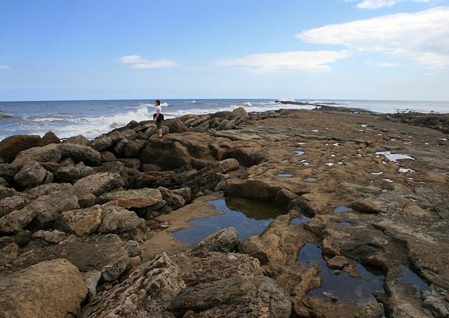 Rock pools on Filey Brig
