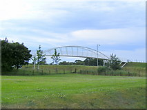 NJ0459 : A Footbridge over the A96 at Forres by Ann Harrison
