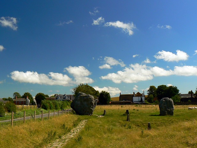 Just north of Avebury