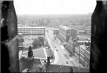 SP3378 : A view from the spire of the old Coventry Cathedral by John Lucas