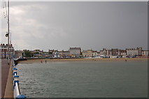 SY6878 : Weymouth seafront from the Pleasure Pier by Roger Davies