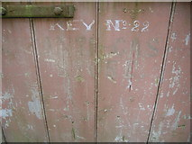 ST5295 : Piercefield House - inside the stables - stall door by Nick Mutton