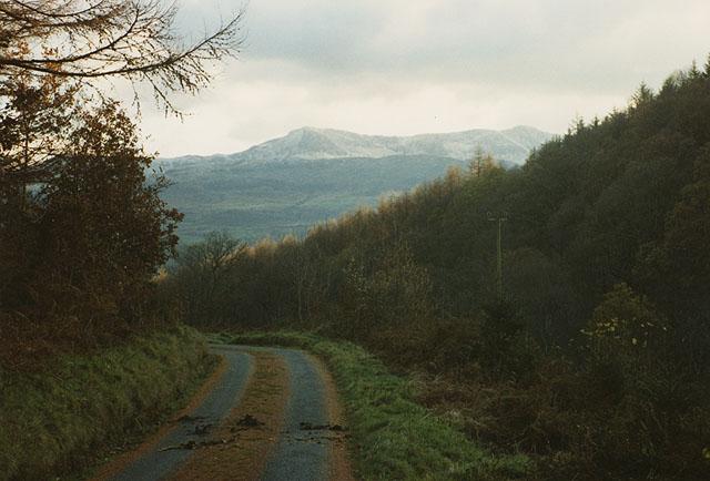 Minor road up Cwm yr Whin