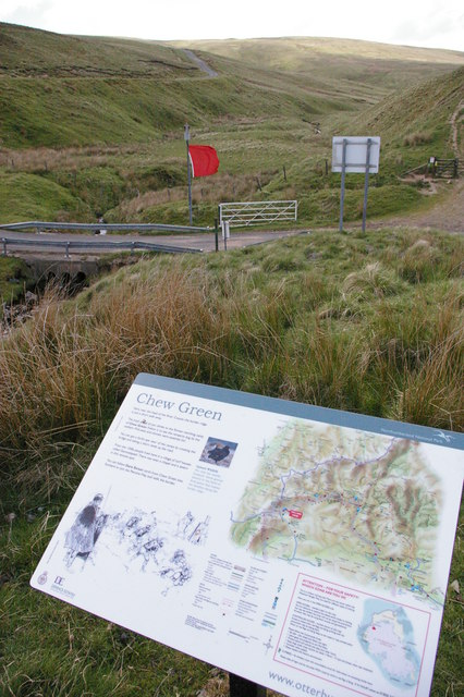 Chew Green, Roman Fort sign, Upper Coquet