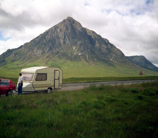 Lay-by on the A82
