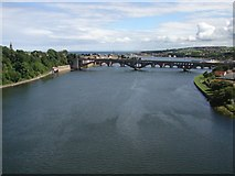 NT9953 : River Tweed from the Royal Border Bridge by Ian Paterson