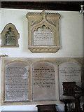 TG1022 : St Michael's church - C19 memorials by Evelyn Simak
