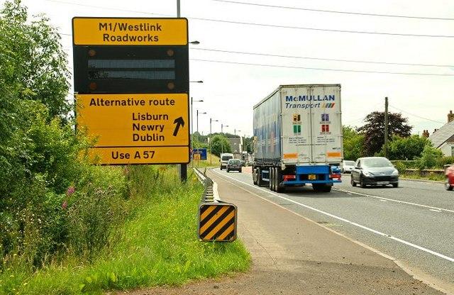 Road sign at Ballynure