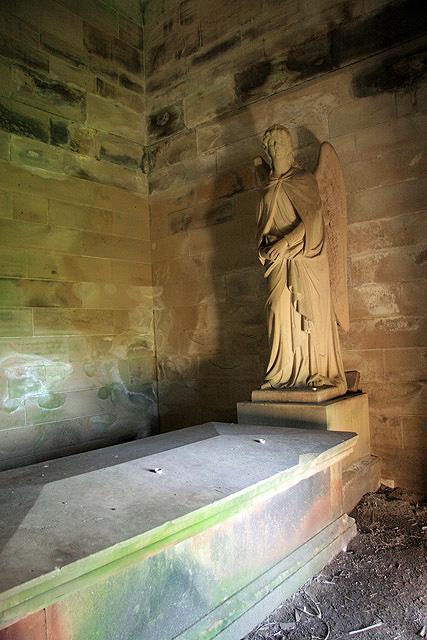 Inside the Monteath Mausoleum