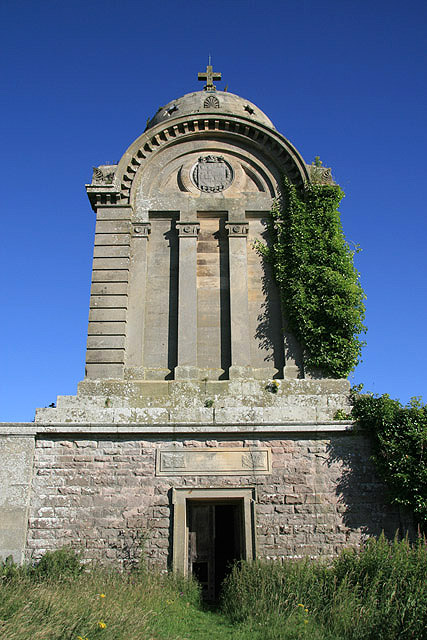 The entrance to the Monteath Mausoleum