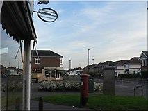 SZ0895 : Northbourne: alongside Redhill Drive Post Office by Chris Downer