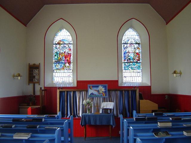 Fair Isle Methodist Church interior