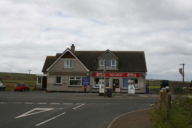 John O'Groats Post Office, petrol station, ....