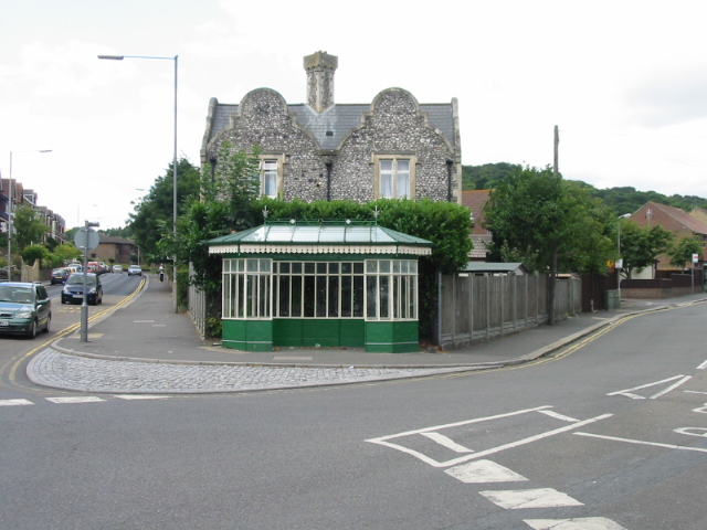 Bus shelter on junction of Folkestone and Elms Vale Roads