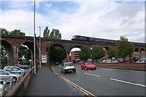 SO8455 : Railway viaduct, Worcester by Bob Embleton