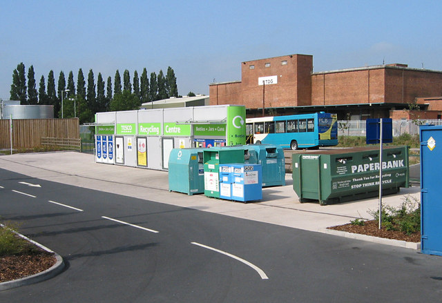 Recycling centre at Tesco