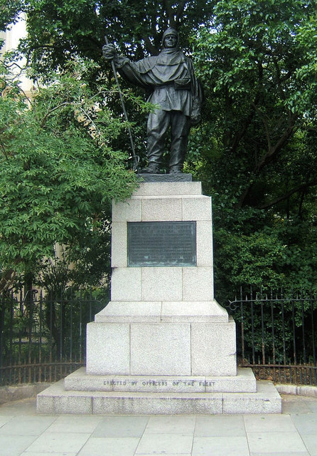 Statue to Captain Scott, Waterloo Place, London W1