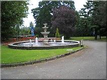 SJ6651 : Entrance Fountain by Gerald England