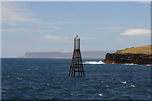 ND3475 : Buoy/Beacon by Stroma, Pentland Firth by Mo