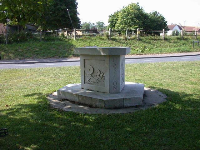 Harlton Millennium Sign