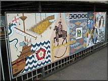 SU6400 : Panel 3 of the 1995 Mural at Portsmouth and Southsea Station by Basher Eyre