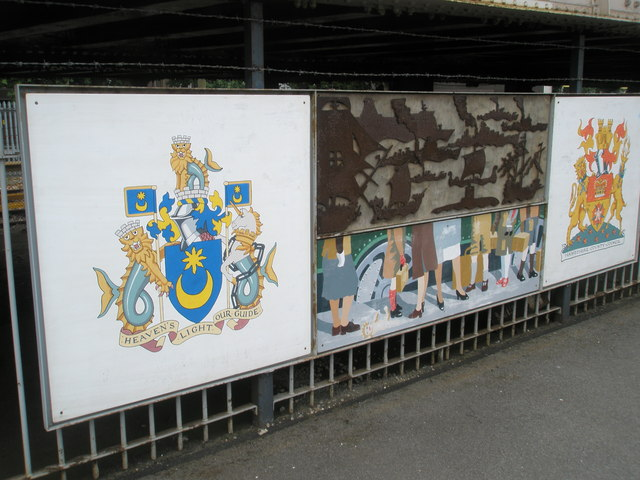 Panel 4 of the 1995 Mural at Portsmouth and Southsea Station