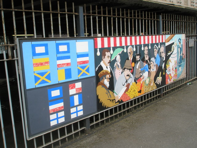 Panel 6 of the 1995 Mural at Portsmouth and Southsea Station