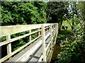 SJ7367 : River Dane footbridge by Stephen Burton