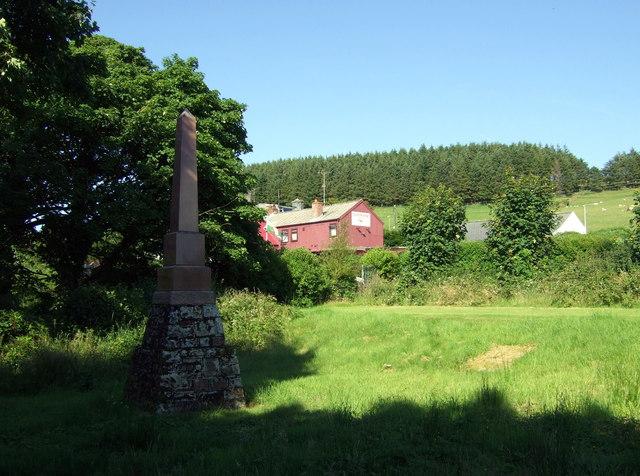 Edward Cropper's memorial at Rosebush