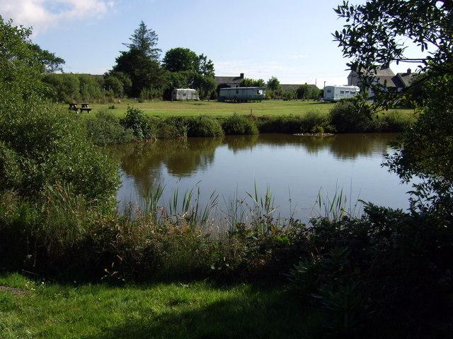 Rosebush campsite and lake