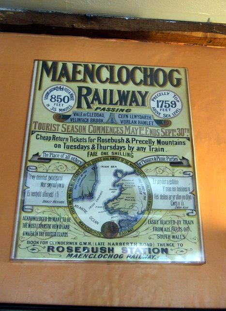 Maenclochog Railway poster